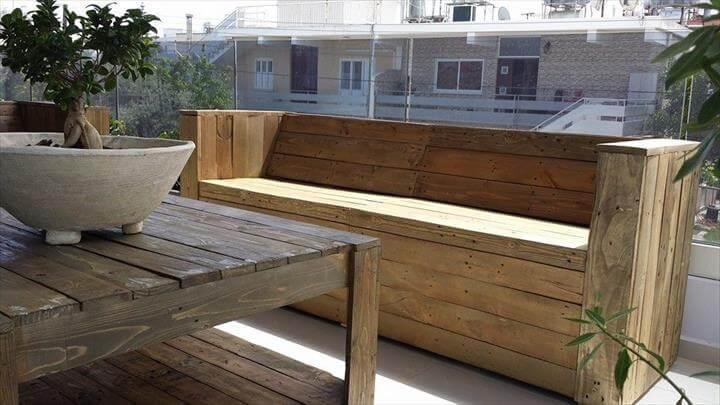 pallet terrace sofa and coffee table