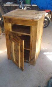 Reclaimed Pallet Side Table or Microwave Table