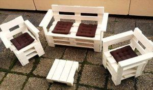 diy pallet terrace furniture set