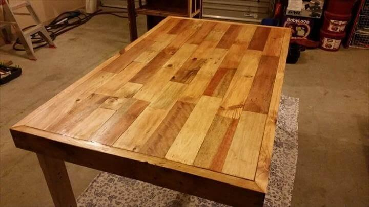 repurposed pallet coffee table built to last