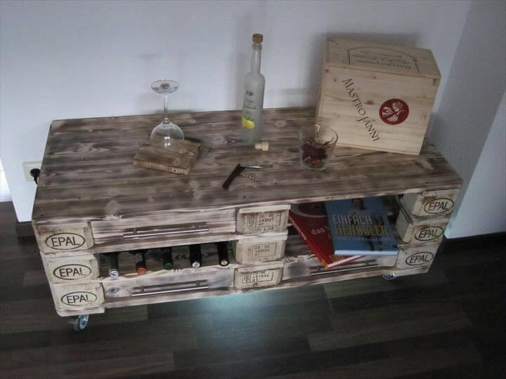 rustic pallet whole Euro pallet dresser table and media unit