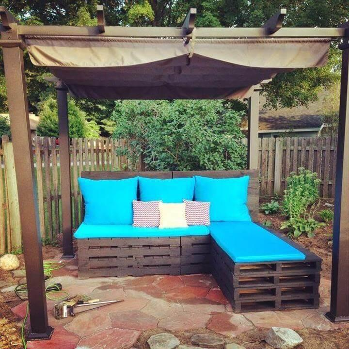 cool pallet L-shape sofa