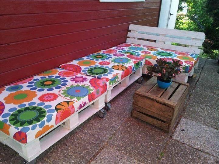 extra long pallet sectional sitting sofa