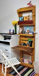 Computer Desk Made Out of Pallets & Office Shelf