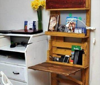 reclaimed pallet space saver desk
