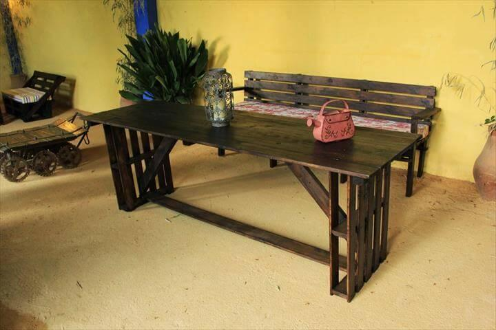 no-cost pallet grand dining table