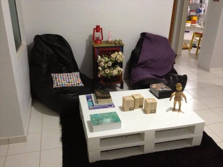 diy pallet storage friendly coffee table