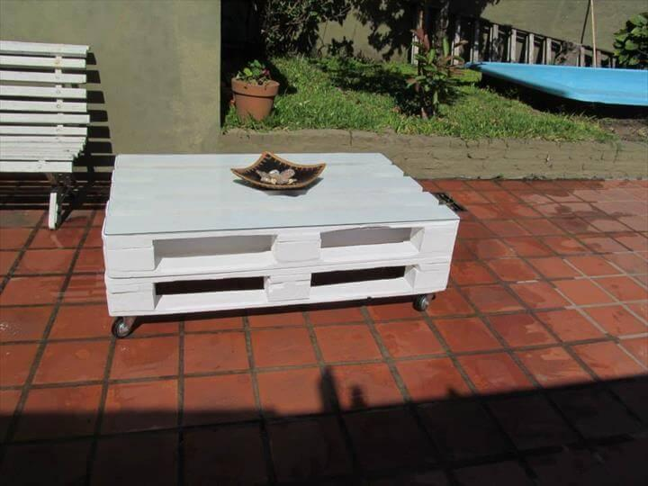 repurposed pallet cozy coffee table