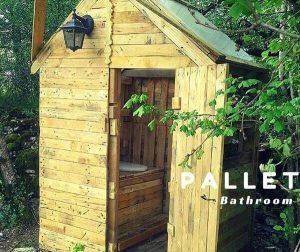 DIY Pallet Outdoor Toilet – Pallet Bathroom