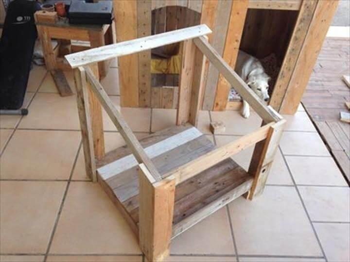 securing the sides of pallet dog house frame