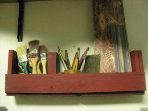 repurposed pallet single wall shelf