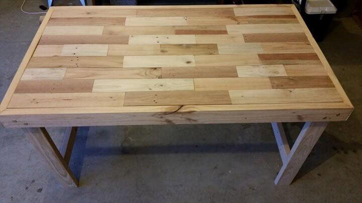 rustic pallet-made coffee table