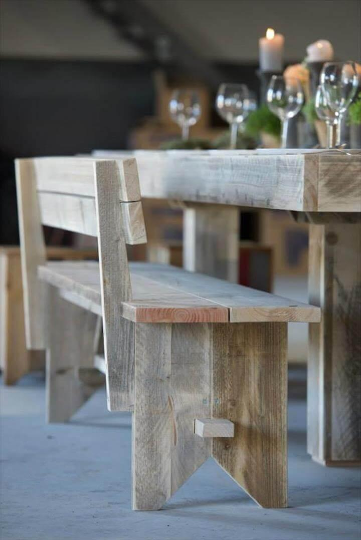 upcycled pallet dining furniture