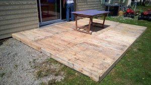 diy pallet home deck flooring