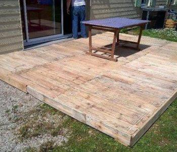 diy pallet home deck flooring