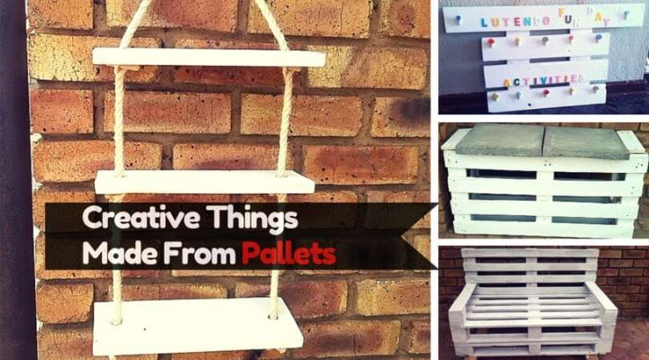 6 Diy Creative Things Made From Pallets Easy Pallet Ideas