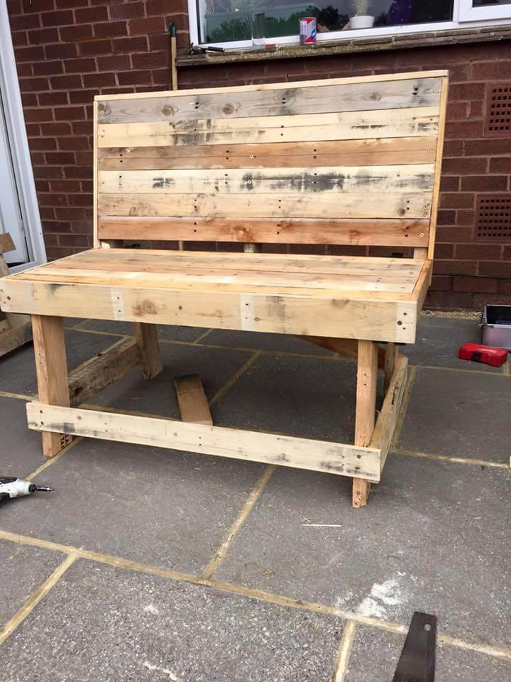 adding the legs to bench