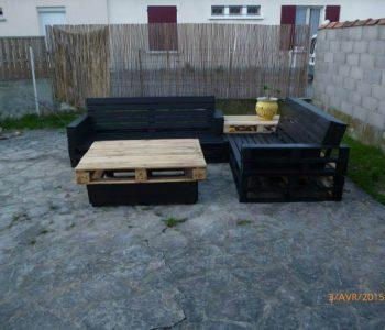 diy pallet sturdy patio and garden sectional set
