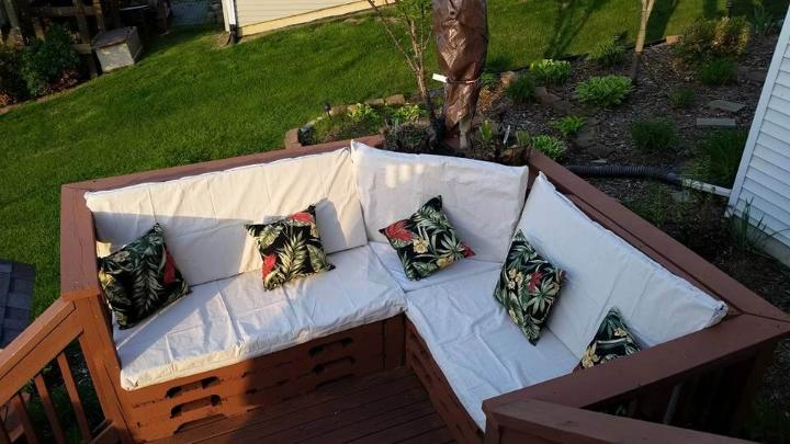 recycled pallet home deck sofa