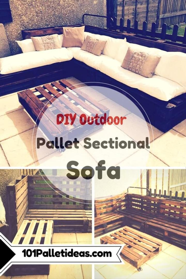 pallet outdoor sectional patio couch plan