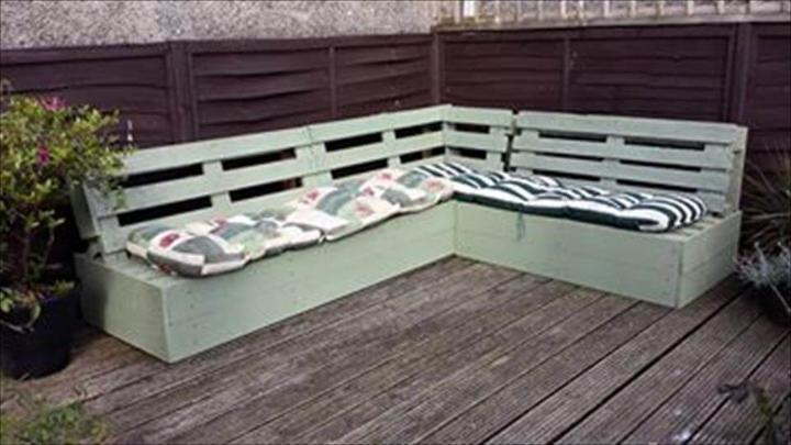 recycled pallet sectional sofa and home deck flooring