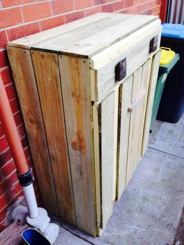 Wooden Pallet Trash Bin Easy Pallet Ideas