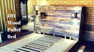 diy pallet wood bed