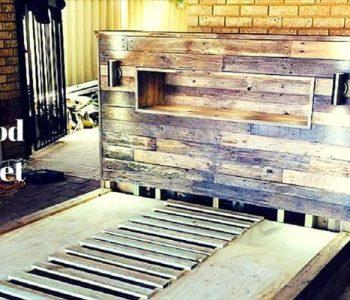 diy pallet wood bed
