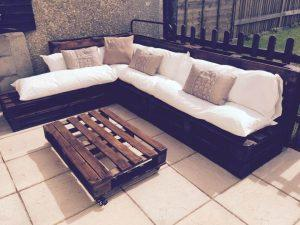 whole pallet couch for patio
