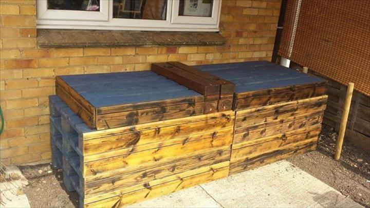 folded in pallet sectional sofa frame