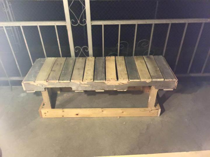 wooden pallet sturdy bench and coffee table