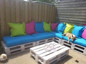 recycled pallet patio and home deck couch