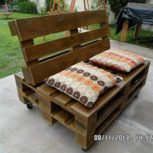 upcycled pallet cushioned 2 seater