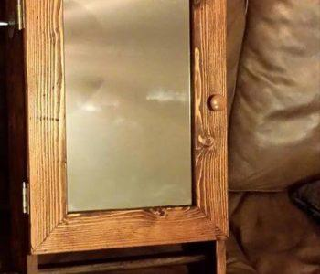 reclaimed pallet bathroom wall mirror cabinet