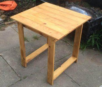 diy pallet rustic table with raised top