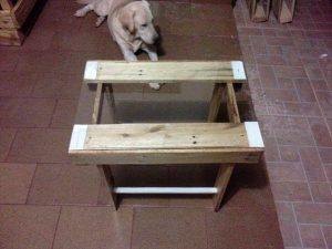 reclaimed pallet coffee table with glass top