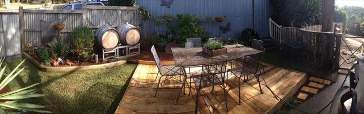 reclaimed pallet home deck flooring