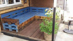 stacked pallet deck remodeling and organization