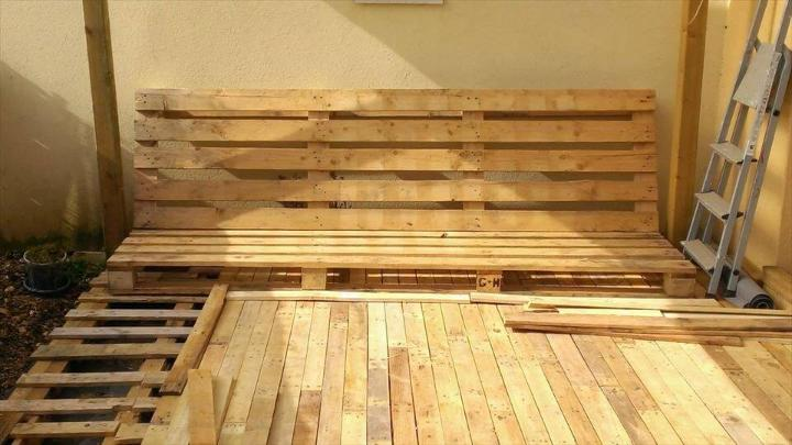 adding removed pallet slats for a finishing look