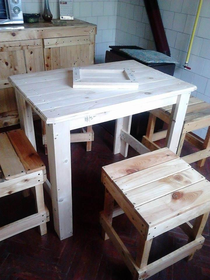 kids pallet dining set