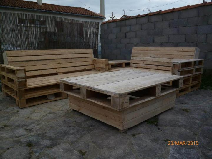 wooden pallet patio sectional sofa