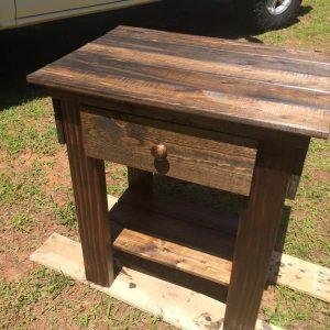reclaimed pallet nightstand and side table