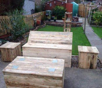 recycled pallet patio and garden furniture