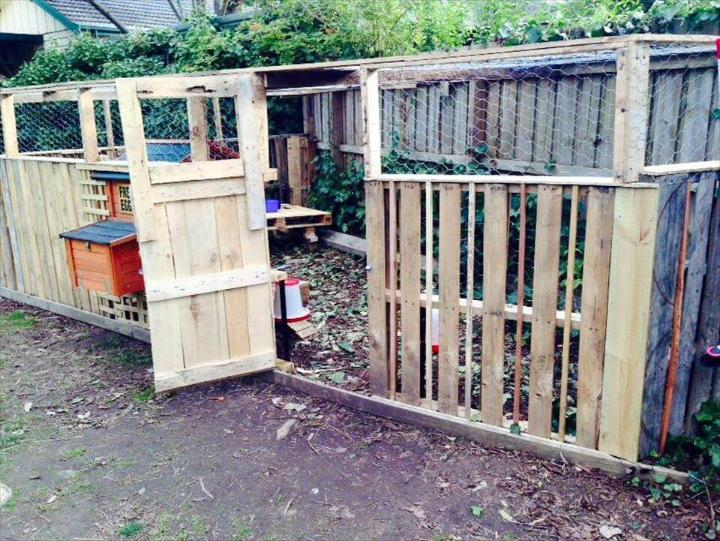 wooden pallet poultry farm or hen house