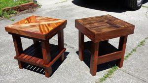 reclaimed pallet side tables