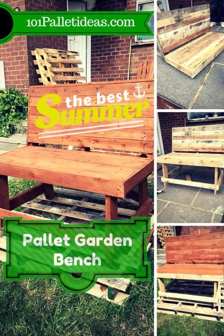 Astonishing Diy Pallet Garden Bench Brick Red Stained Easy Pallet Ideas Pdpeps Interior Chair Design Pdpepsorg