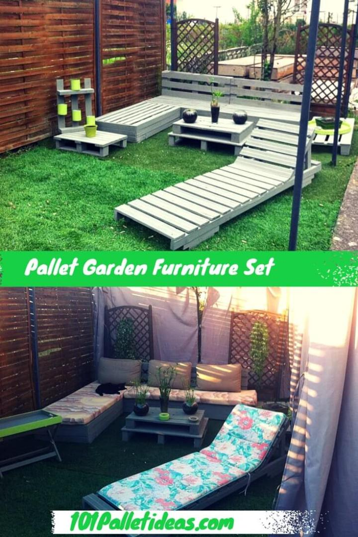 Pallet Garden and Patio Furniture Set
