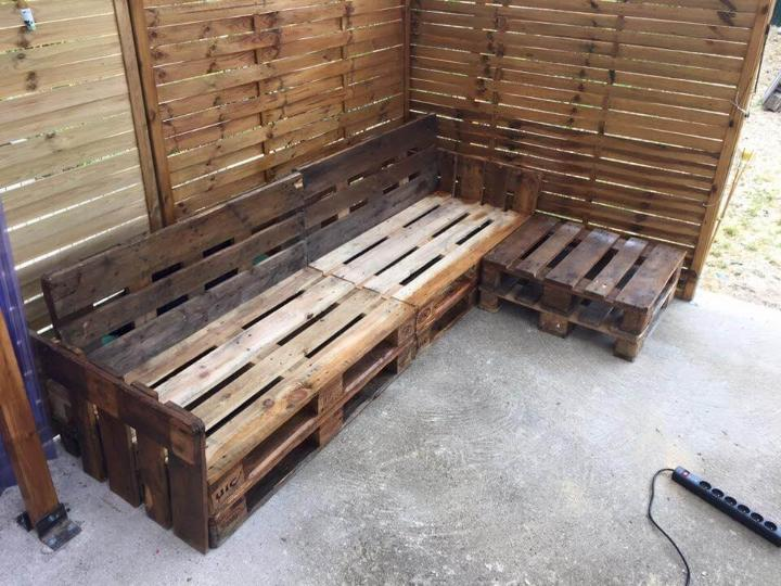 stacked whole pallet patio set