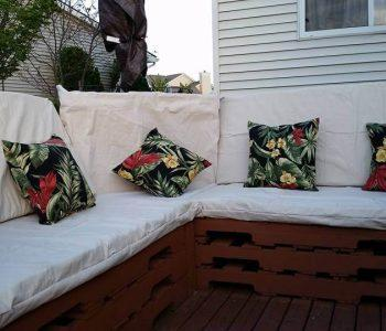 wooden pallet patio sofa
