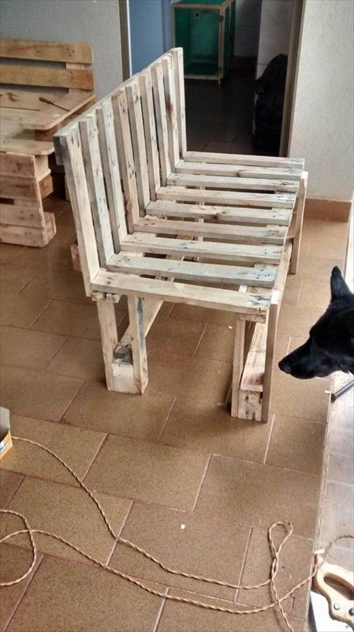 handmade wooden pallet bench